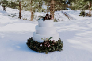 Belle Wedding | Hochzeitsplanung Winterhochzeit Hochzeitstorte