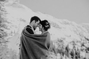 Belle Wedding | Hochzeitsplanung Winterhochzeit Brautpaar